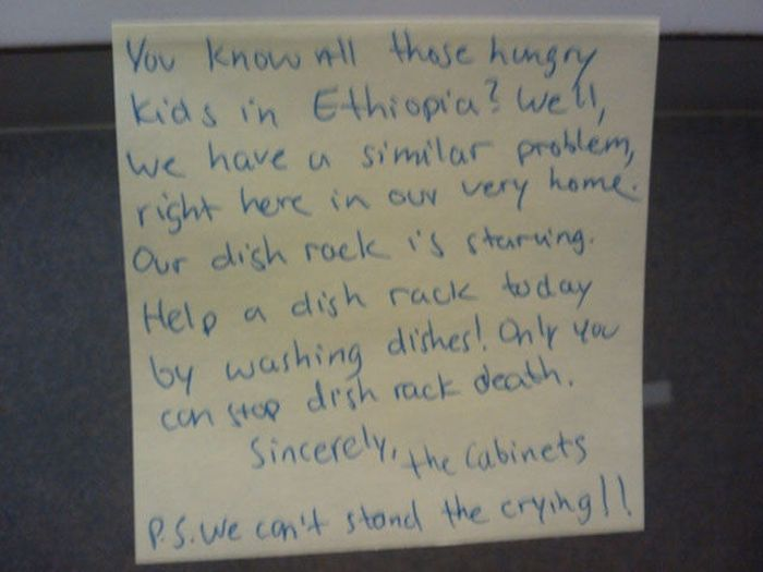 Passive Aggressive Roommate Notes (14 pics)