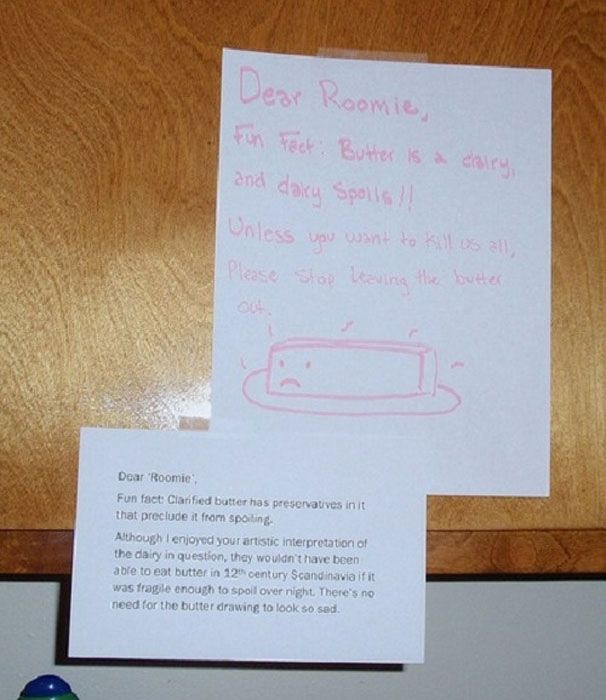 Passive Aggressive Roommate Notes (14 pics)