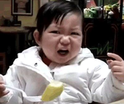 Babies With Sour Faces (15 gifs)