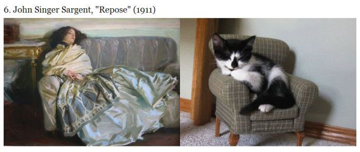 Cats Imitating Art (21 pics)