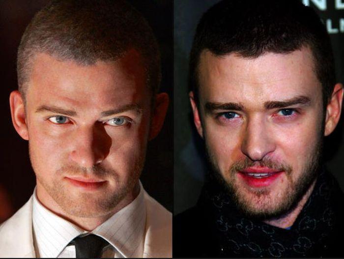 Celebrities Next to Their Wax Look-Alikes (105 pics)