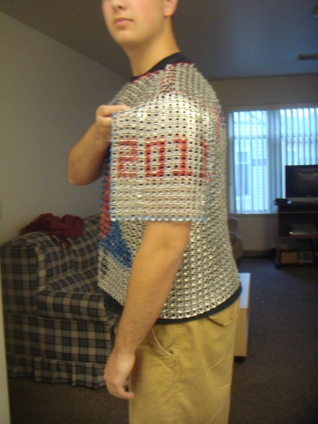 Phillies  Chain Mail Made Out of 3000 Beer Tabs (3 pics)