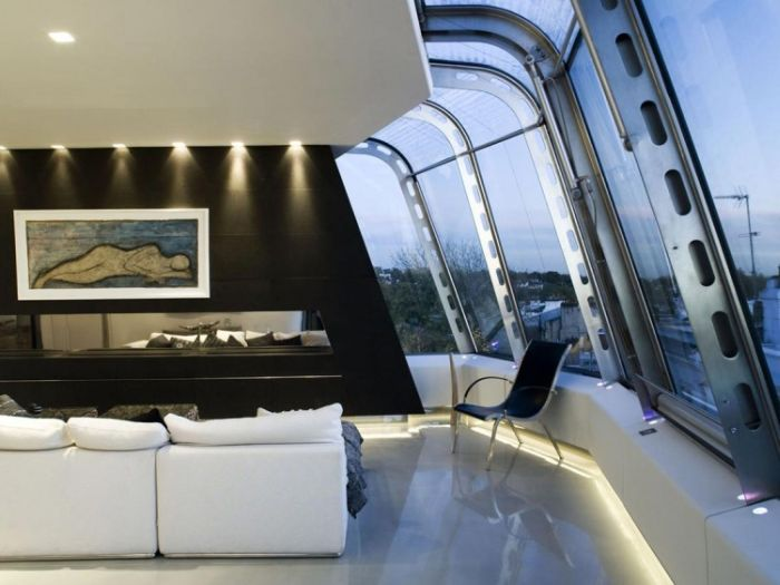 Glass Rooftop Penthouse in London (20 pics)