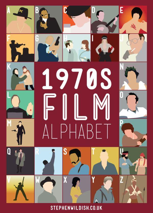 Stephen Wildish's 'Film Alphabet' Poster Series (6 pics)