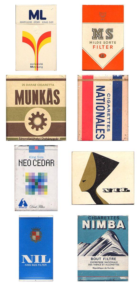 Vintage Cigarette Pack Designs (20 pics)