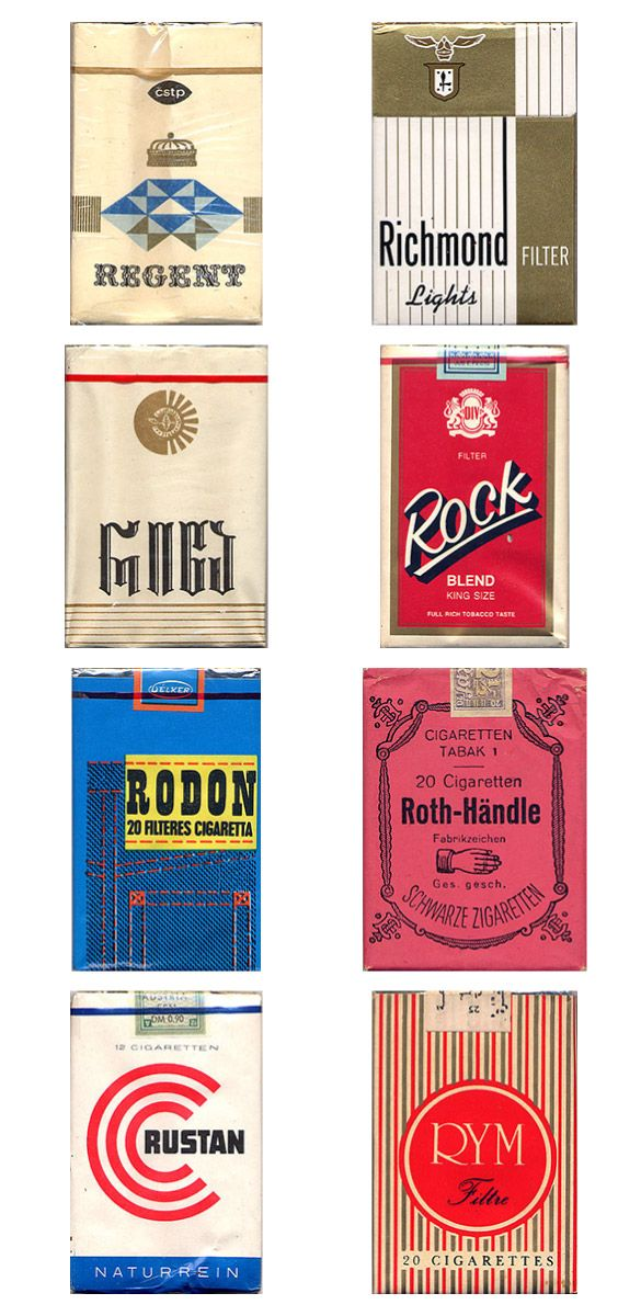 Vintage Cigarette Pack Designs (20 pics)