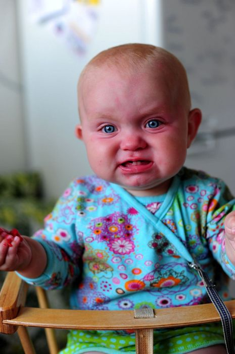 Photos of Angry Babies (30 pics)