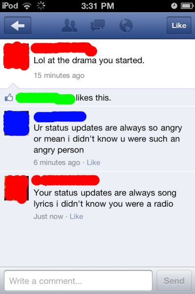 Funny Facebook Coomments (28 pics)