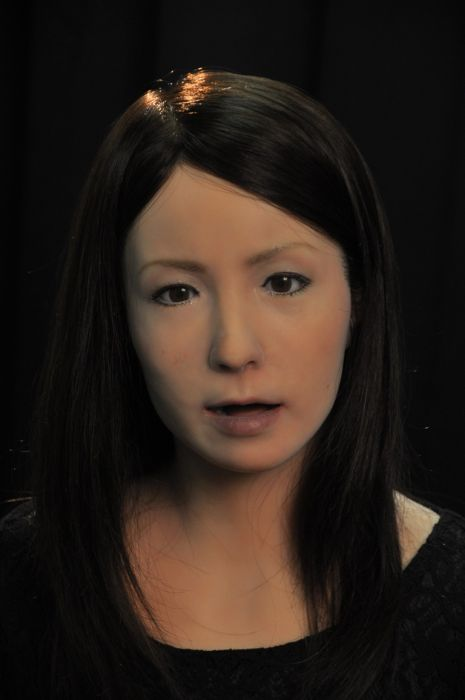Female Android Geminoid F (15 pics + video)