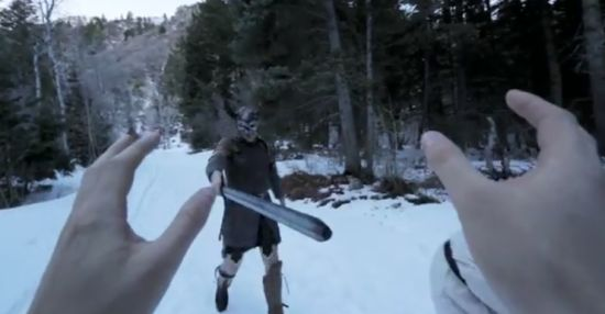 Awesome First Person Skyrim in Real Life