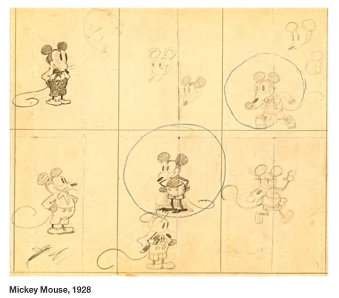 Early Sketches of Famous Cartoon Characters (11 pics)
