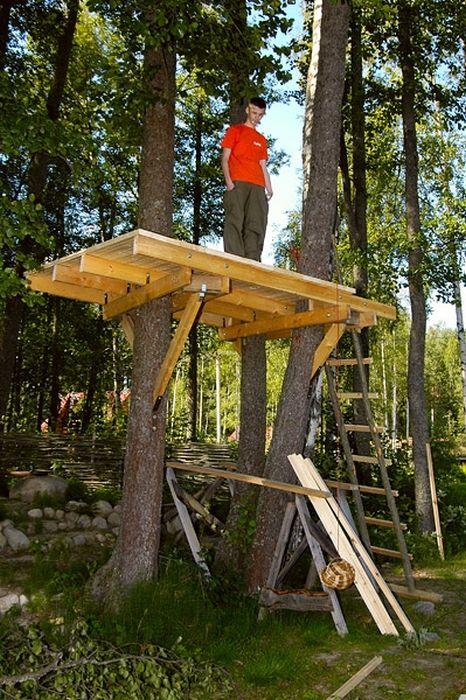 Своими руками сделать домик на дереве
