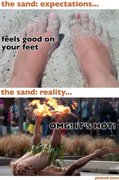 Beach Expectations vs Reality (8 pics)