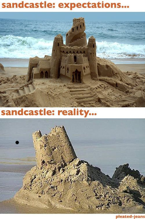 Beach Expectations vs Reality (8 pics)