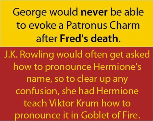 Interesting Harry Potter Facts (10 pics)