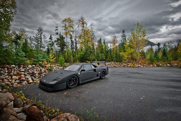 Carbon Fiber Wrap Ferrari F40 (10 pics)