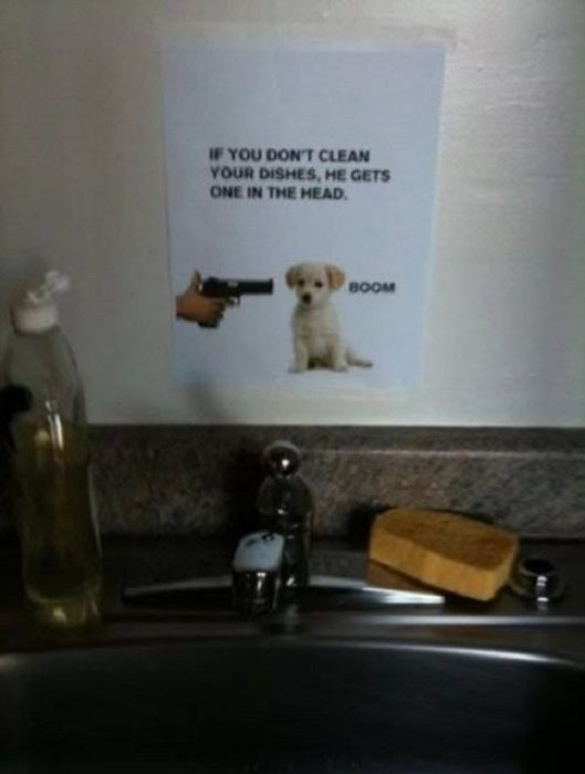 Annoying Roommate Notes (23 pics)