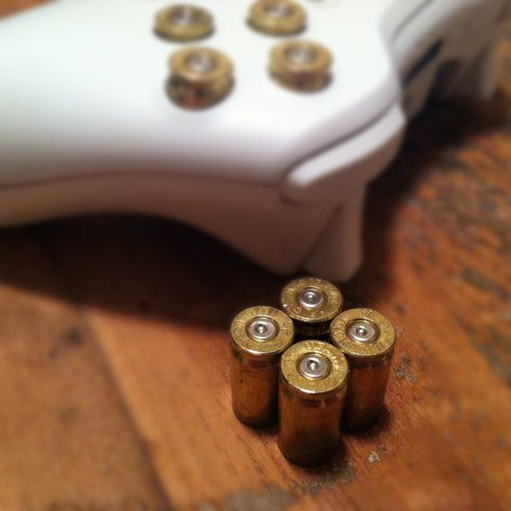 Xbox Controller Modded with 9mm Bullet Buttons (5 pics)