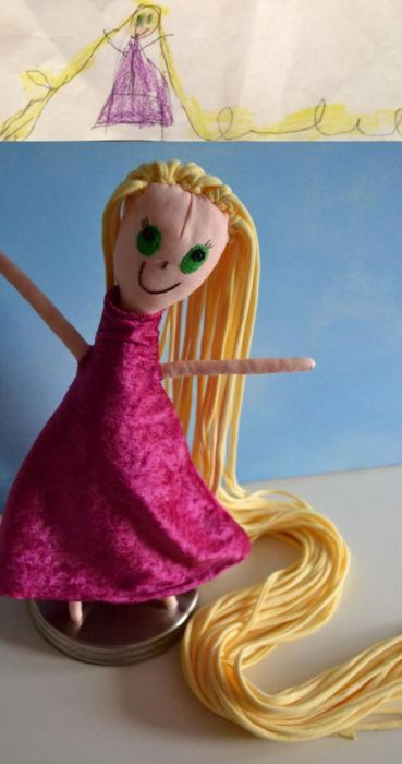 Stuffed Toys Based on Children's Drawings. Part 2 (23 pics)