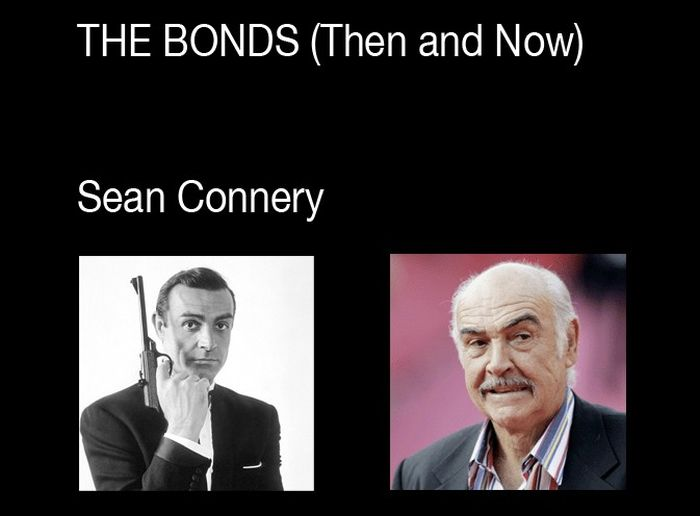 Every James Bond Then and Now (6 pics)