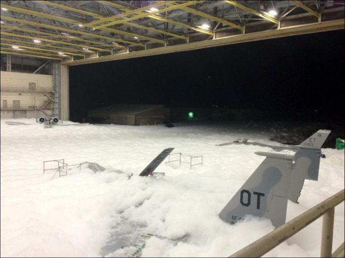 Hangar Full of Foam (6 pics)