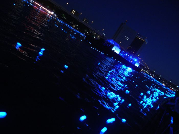 100,000 LED Lights Float Down the Sumida River (22 pics + video)