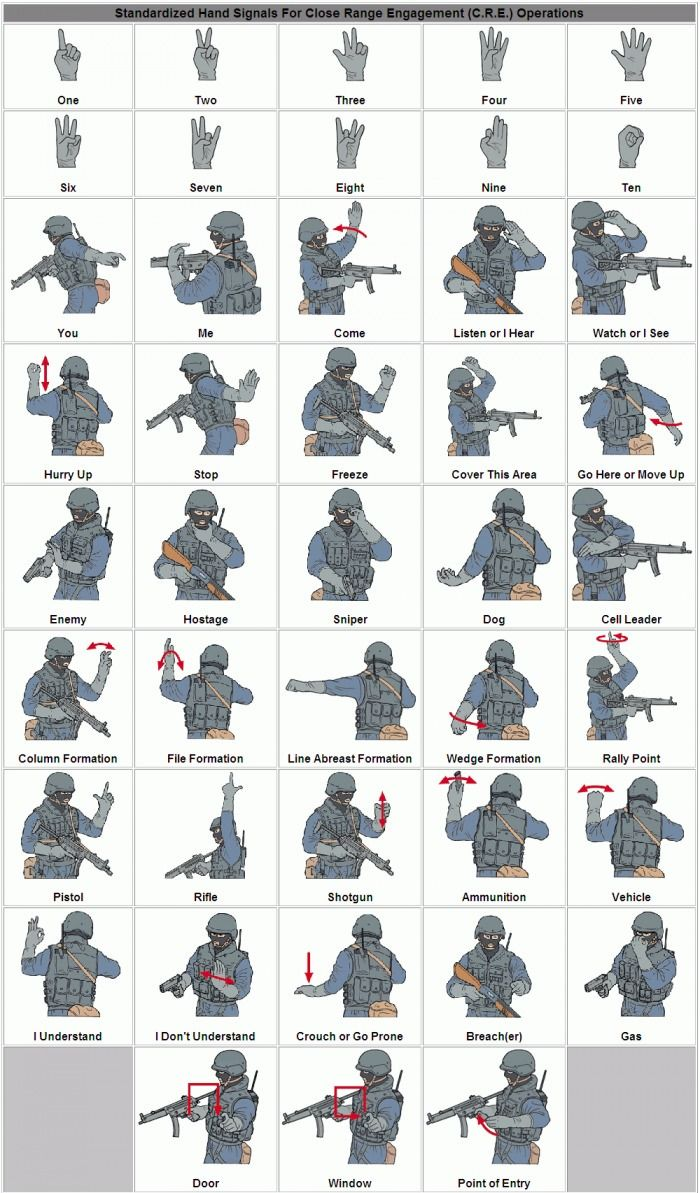 Swat Hand Signals (1 pic)