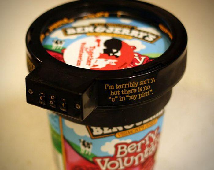 Pint Ice Cream Lock (7 pics)