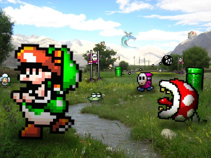 Retro Video Game Characters In Real Life Settings (12 pics)