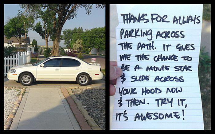 Passive Aggressive Parking Notes (20 pics)