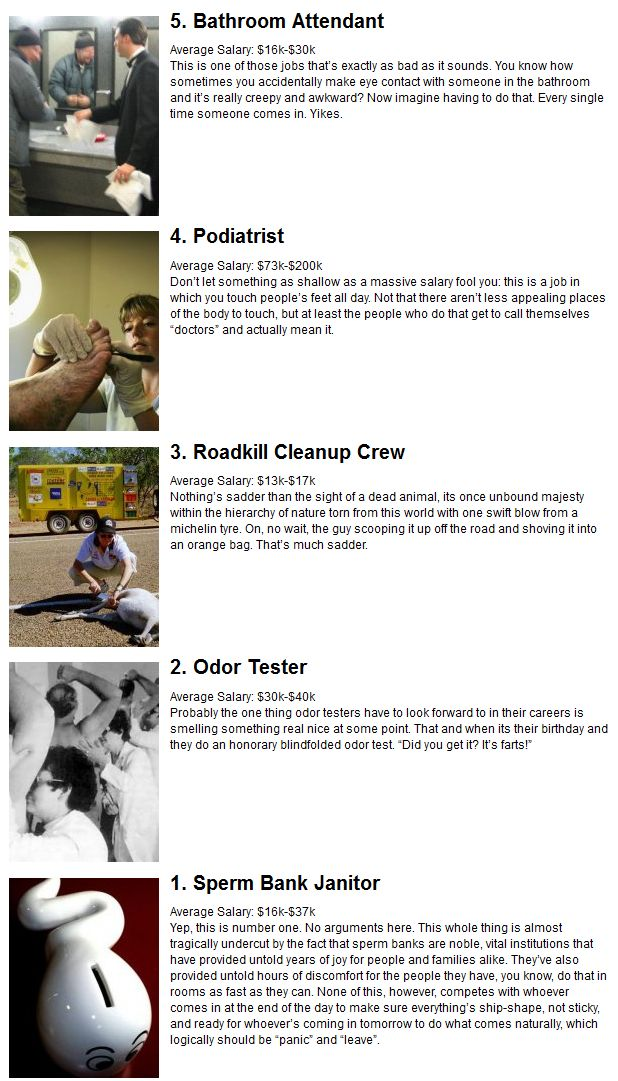 The 25 Worst Jobs in the World (5 pics)