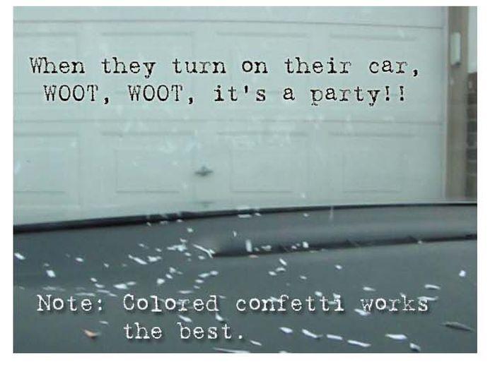 The Confetti Prank (6 pics)