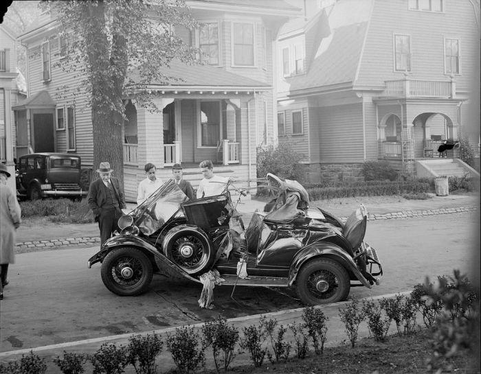 Boston Car Crashes in the 30s (37 pics)