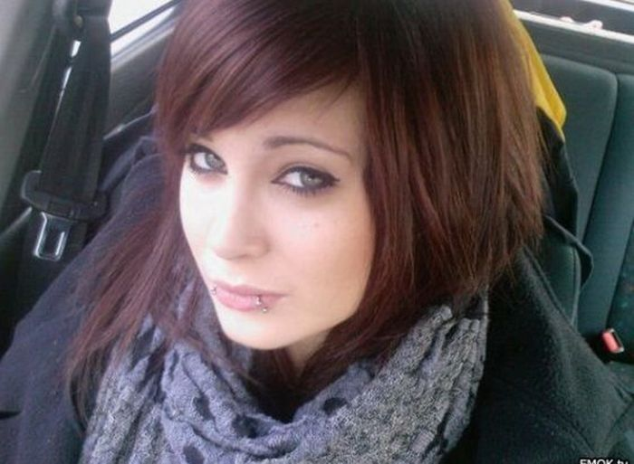 Cute emo girls with brown hair theme
