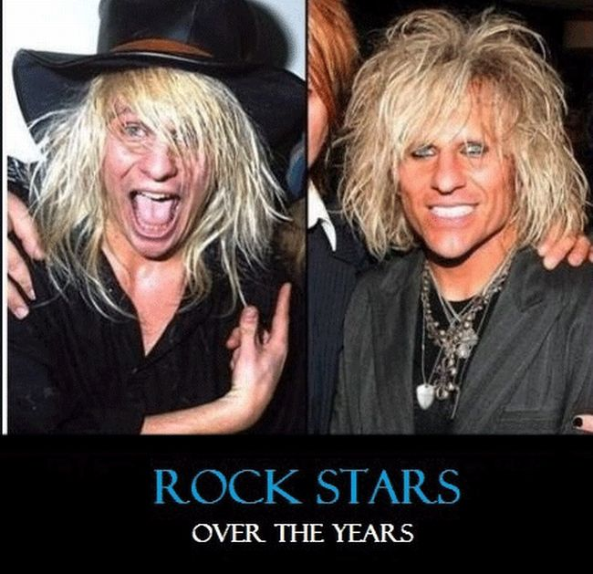 Rock Star Then and Now (26 pics)