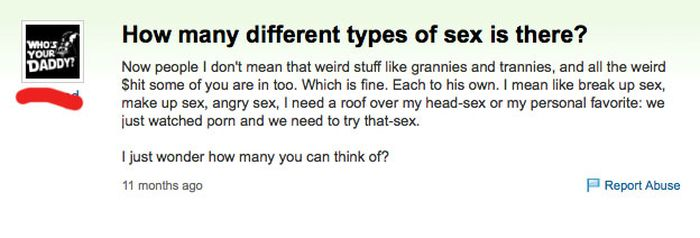 Awkward Sex Questions On Yahoo Answers (15 pics)