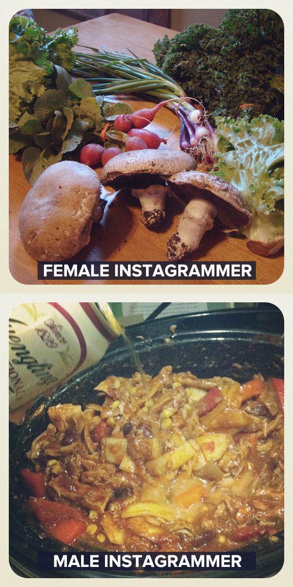 Female Instagrammer vs Male Instagrammer (11 pics)