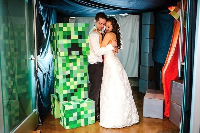 Matt and Asia's Minecraft Wedding (63 pics)