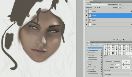 Awesome Photoshop Performance on Drawing Elf Girl
