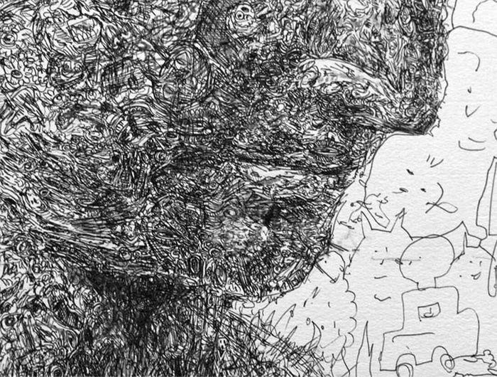 Drawings Made of Thousands of Cartoon Doodles (15 pics)