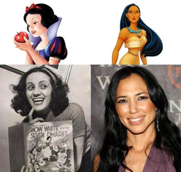 Disney Princesses and Their Voice Actors (11 pics)