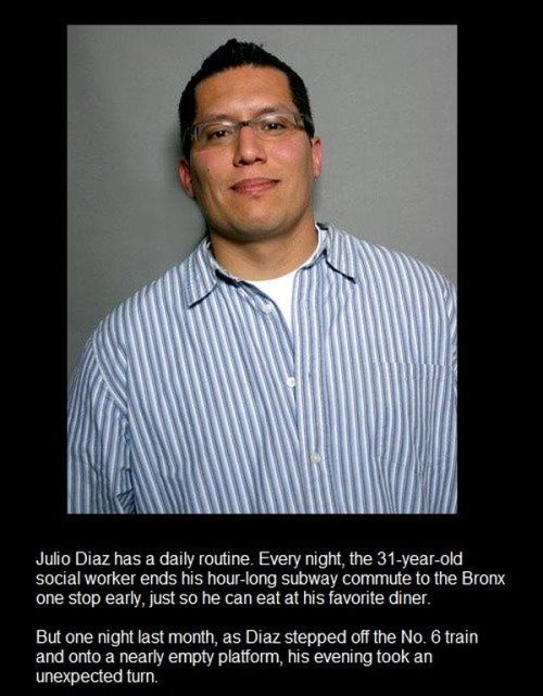 Faith in Humanity Restored. The Story of Julio Diaz (1 pic)