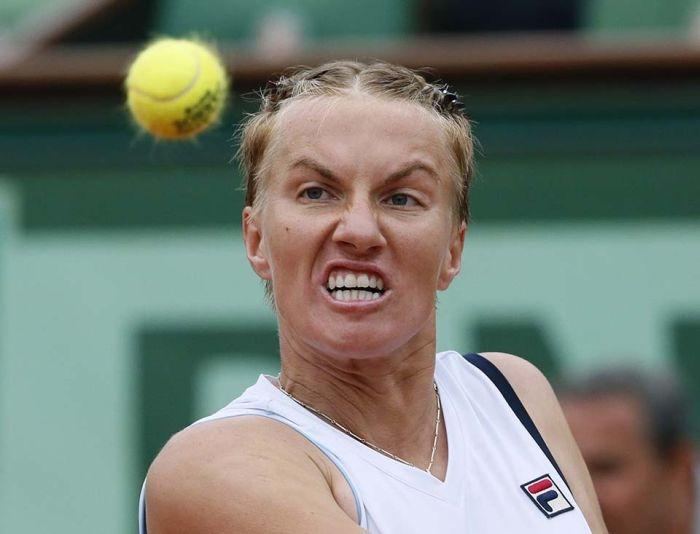 Ekspresi wajah para pemain Tenis yang lucu!