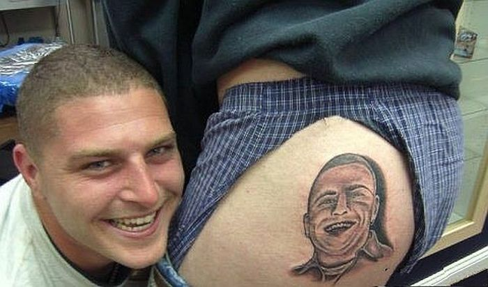 The Worst Examples of Portrait Tattoos (38 pics)