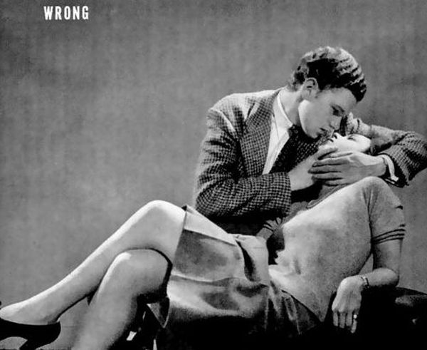 1942 Life Magazine Teaches You How to Kiss (4 pics)