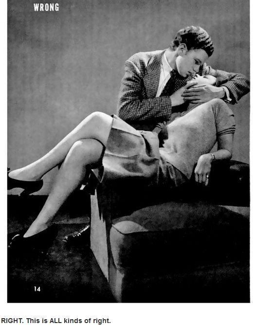 1942 Life Magazine Teaches You How to Kiss (4 pics)