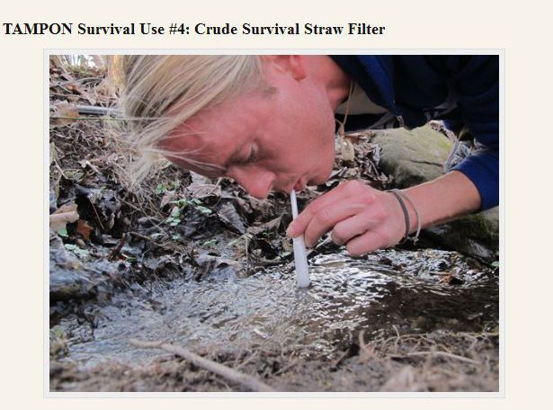 Survival Uses of a Tampon (24 pics)