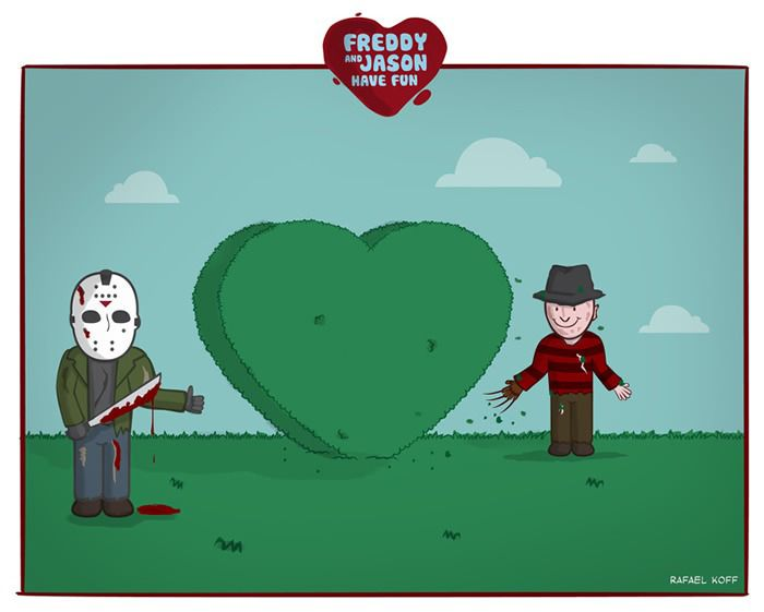 Freddy and Jason Have Fun (8 pics)