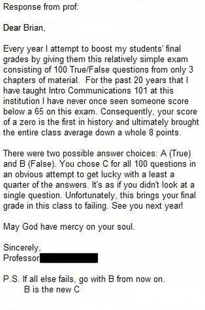The Worst Test Fail Ever (3 pics)