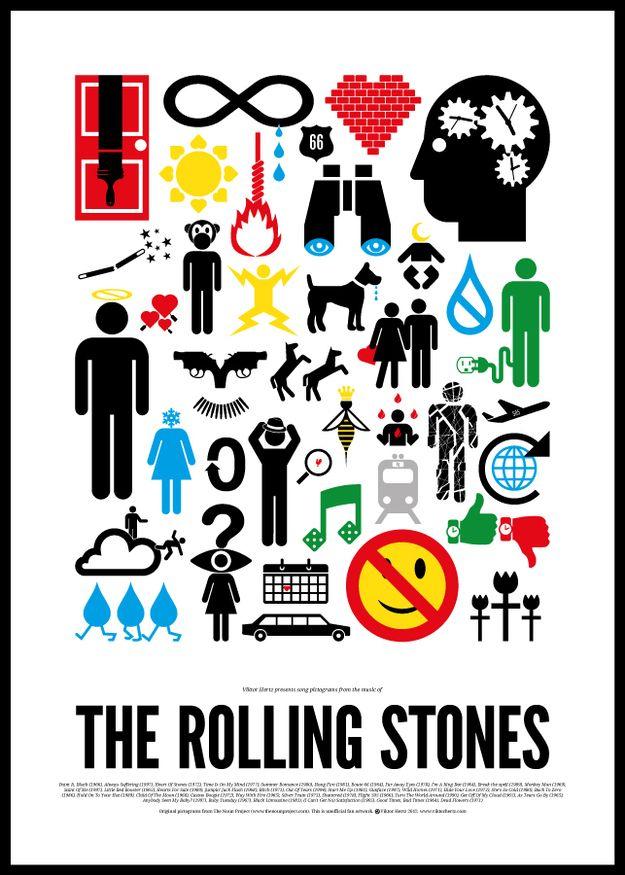 Pictogram Rock Posters (8 pics)